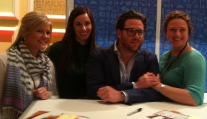 Scott Conant with Serendipity girls