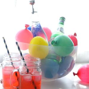 water-balloon drink bucket