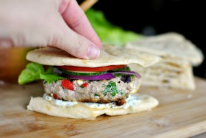 Greek-Turkey-Burger