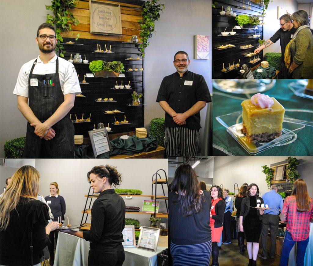 Guests enjoying the Certifiably Green Denver celebration and honoring the newest certified green businesses.